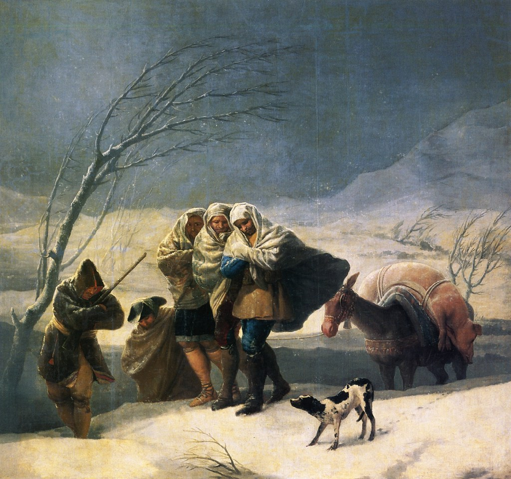 Winter by Francisco Jose de Goya y Lucientes, 1786-1787