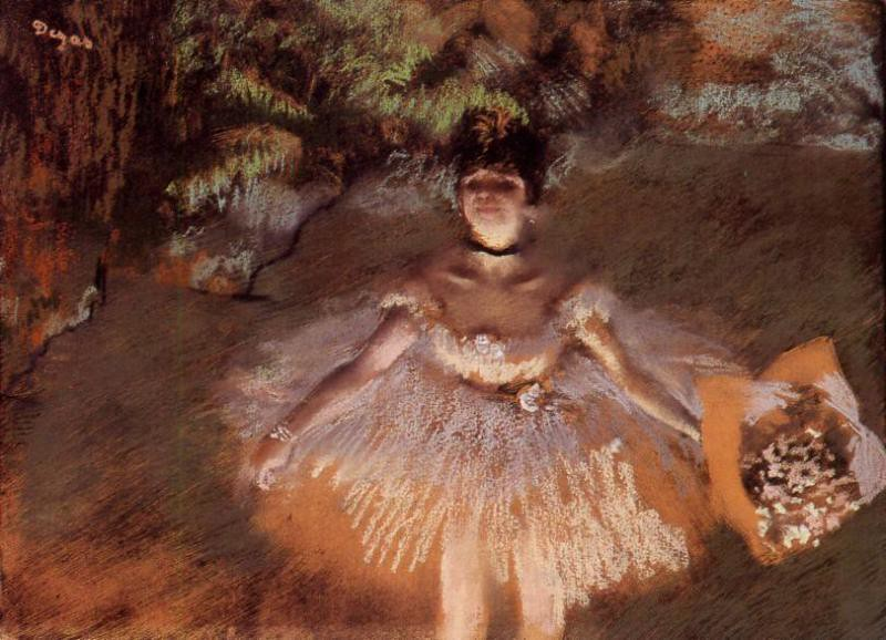Dancer Onstage with a Bouquet by Edgar Degas, c.1876