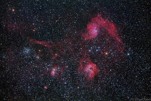 VCSE - IC 405 a Lángoló csillag-köd - Schmall Rafael