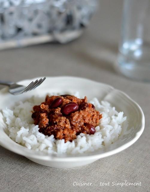 Chili con carne l 39 autocuiseur cuisiner tout - Cuisiner du riz blanc ...