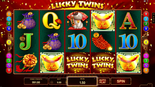 Lucky Twins Scatter Feature