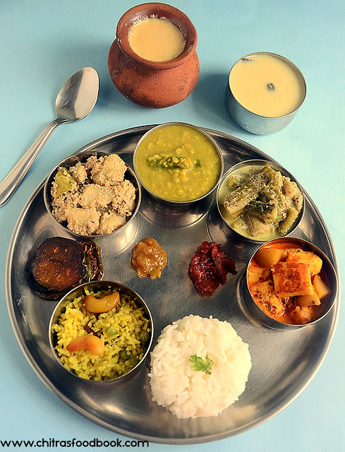 Authentic bengali  vegetarian lunch menu