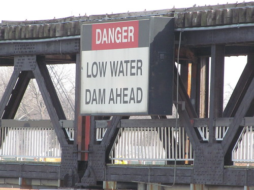 Danger: Low Water Dam Ahead