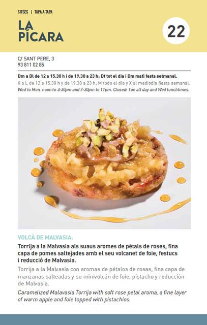 Tapa Tapa Sitges 2016 La Pícara