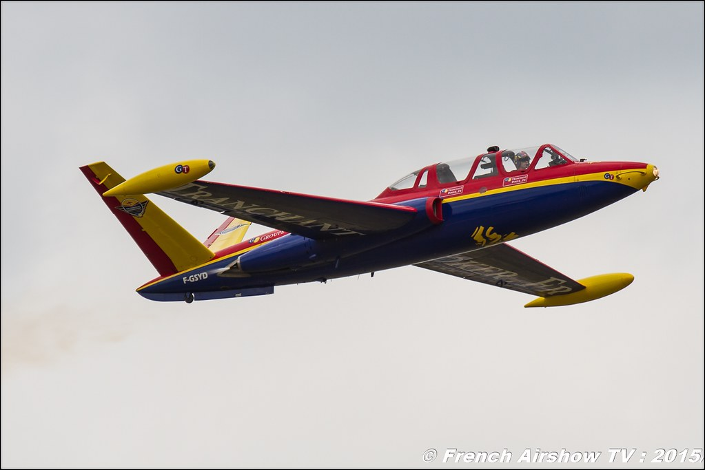 Fouga Magister Tranchant , F-GSYD , groupe tranchant, Paris Airshow 2015 , Salon du Bourget 2015 , 51 edition paris, Meeting Aerien 2015