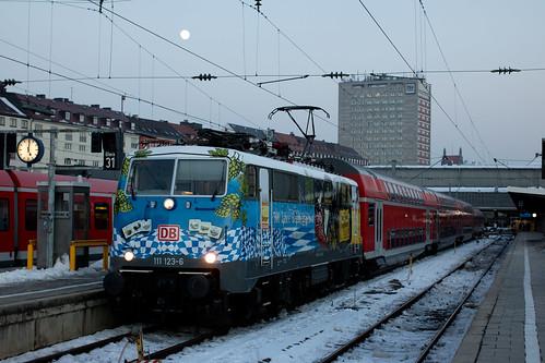 111 123 »500 Jahre Reinheitsgebot« am Münchner Hauptbahnhof