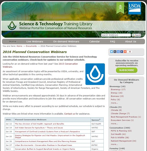 2016 Planned Conservation Webinars screenshot