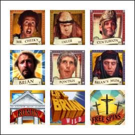 free Monty Python's Life of Brian slot game symbols