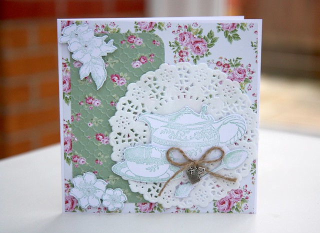 Wild Rose Teacup Card by StickerKitten