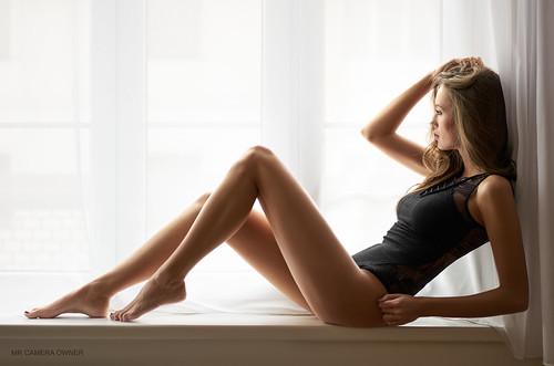 Nicol in the window