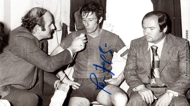 Un pensieroso Angelo Massimino in compagnia di Romano Fogli nella stagione 1973-74 (Foto: Tutto il Catania minuto per minuto)