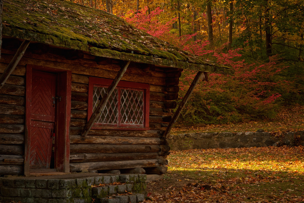 hansel and gretel this empty mossy log cabin on the
