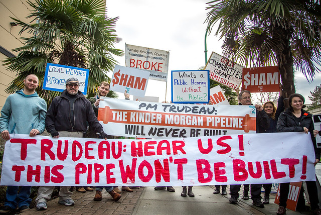 Protest against Kinder Morgan pipeline