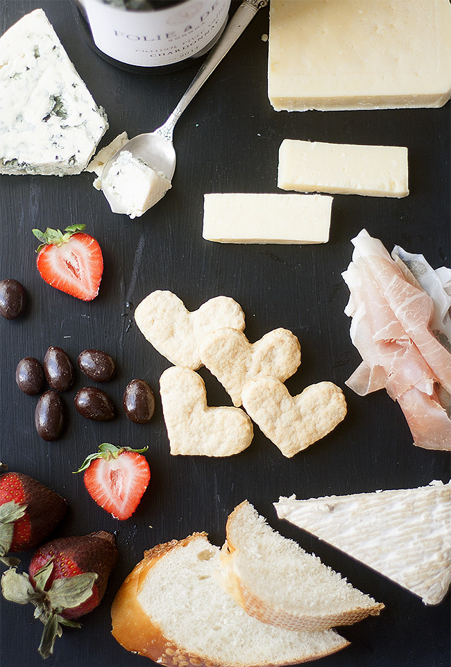 flat-bread crackers + a valentines day cheeseboard from @CastelloCheese