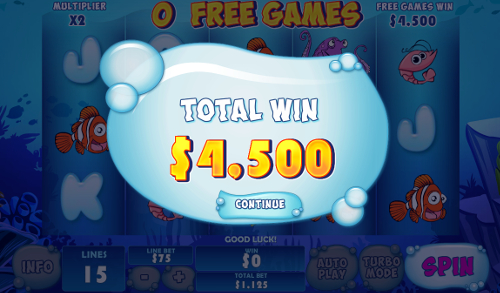 free Wacky Waters free spins prize