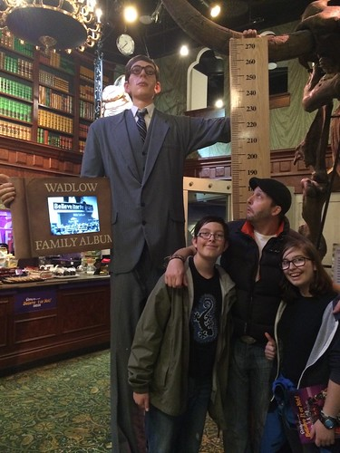 ripleys london tall man measure teenagers travel