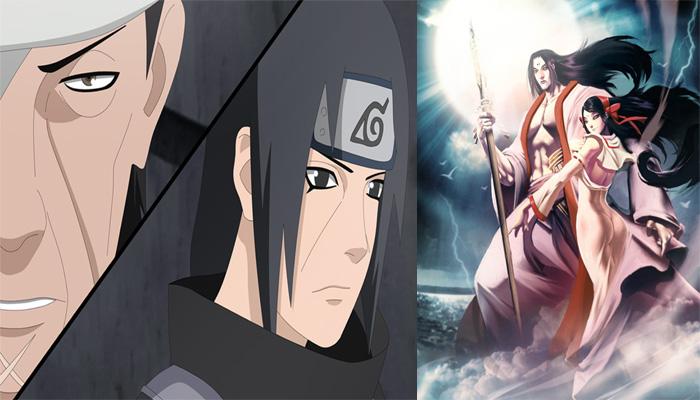 izanagi e izanmai, das lendas para os animes