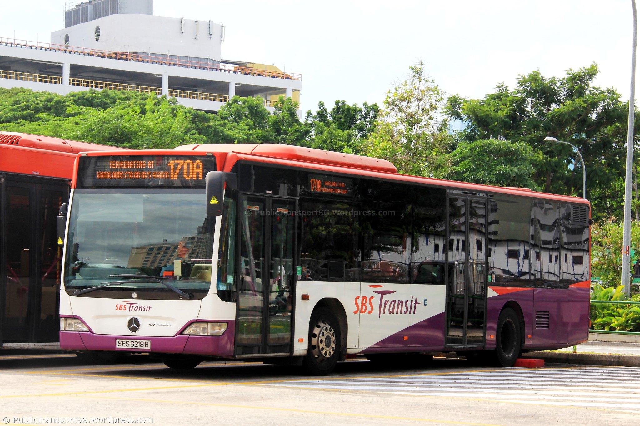 Sbs transit bus service 170a public transport sg for Mercedes benz woodlands service