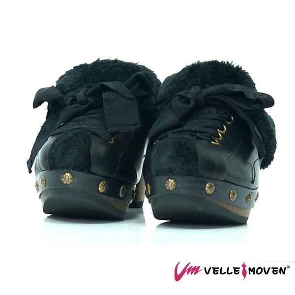 優質黑,保暖拖鞋,毛毛鞋,刷皮牛皮