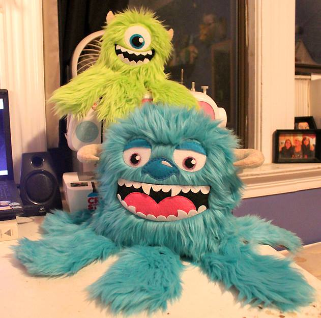 Monsters Inc. Mike and Sully plush by LoveAndASandwich
