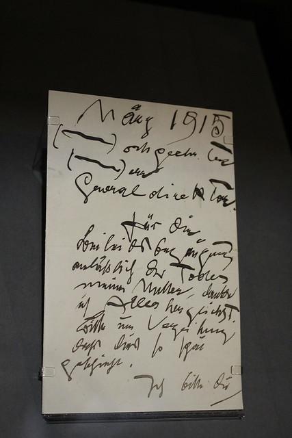 Lettre de Gustav Klimt (1915) - Les choix de Pierre Leroy, livres et manuscrits