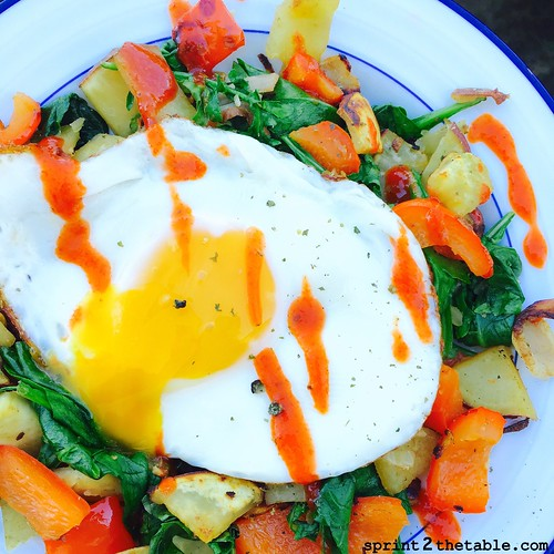 Sweet Potato & Spinach Hash