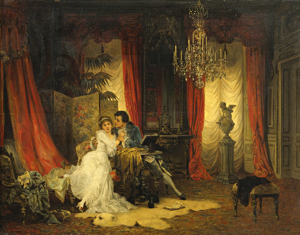 The Lovers by Karl Schweninger Jr. (Austrian, 1854 - 1903).