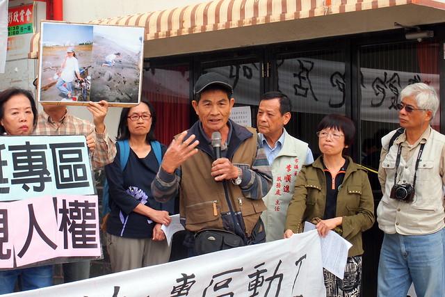 許順良創作[西南風]歌詞述說過往大林蒲的海邊生活和對政府的抗議。攝影:李育琴