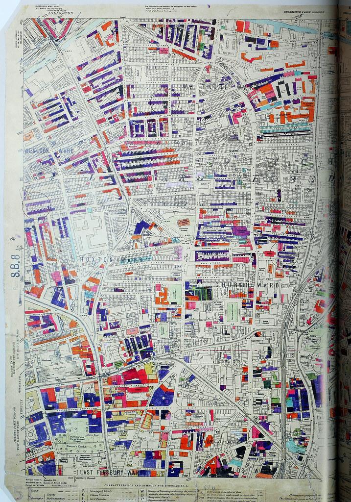 London County Council Bomb Damage Map Shoredit Flickr - London map 1945