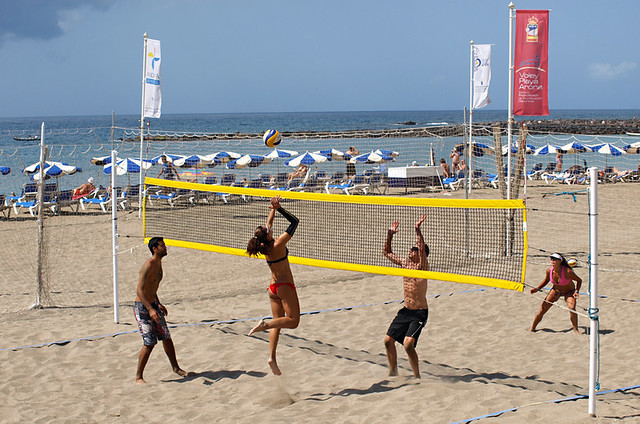Volleyball on the beach, March, Tenerife
