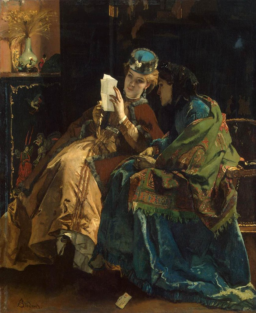 Pleasant Letter by Alfred Stevens, 1860