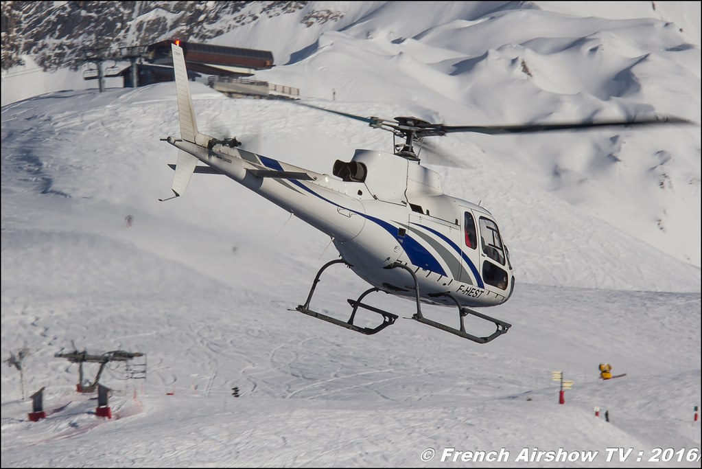 Aérospatiale AS-350 B Ecureuil - F-HEST, Salon Hélicoptère à Courchevel 2016, Meeting Aerien 2016