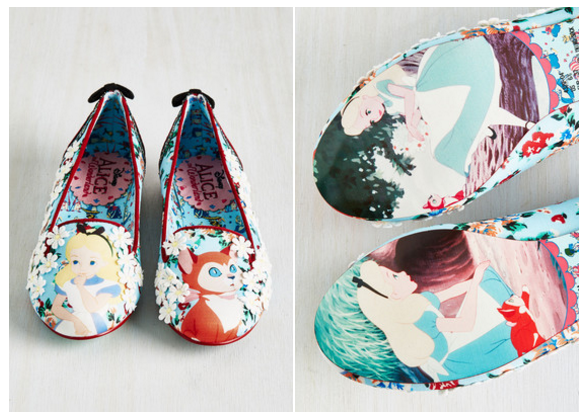 alice in wonderland irregular choice flats