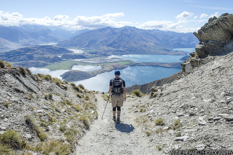 Going down Roys Peak