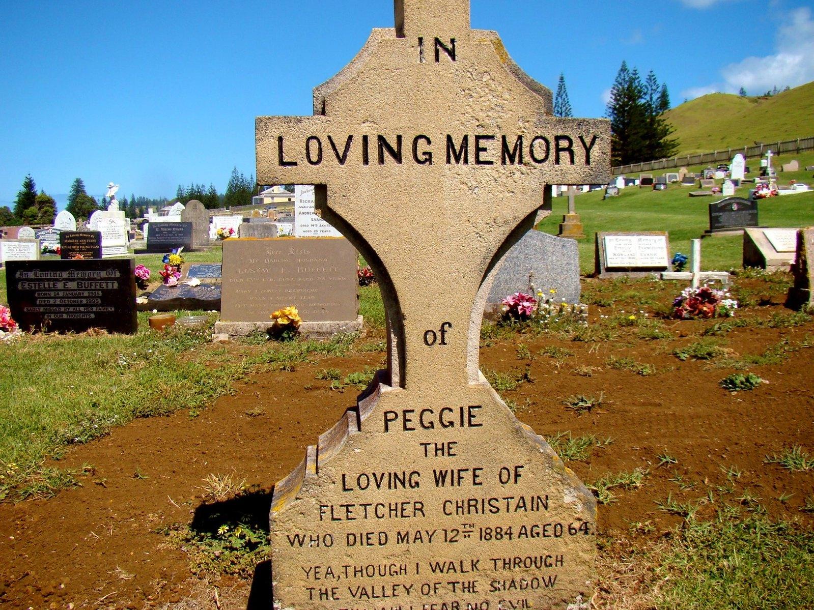 Norfolk Island Cemetery. Image credit Bob Hall