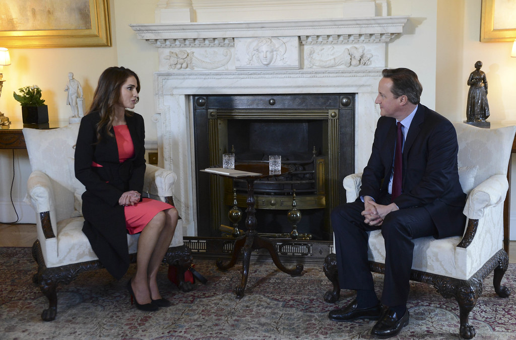 Pm welcomes queen rania of jordan prime minister david cam flickr - Office of prime minister uk ...