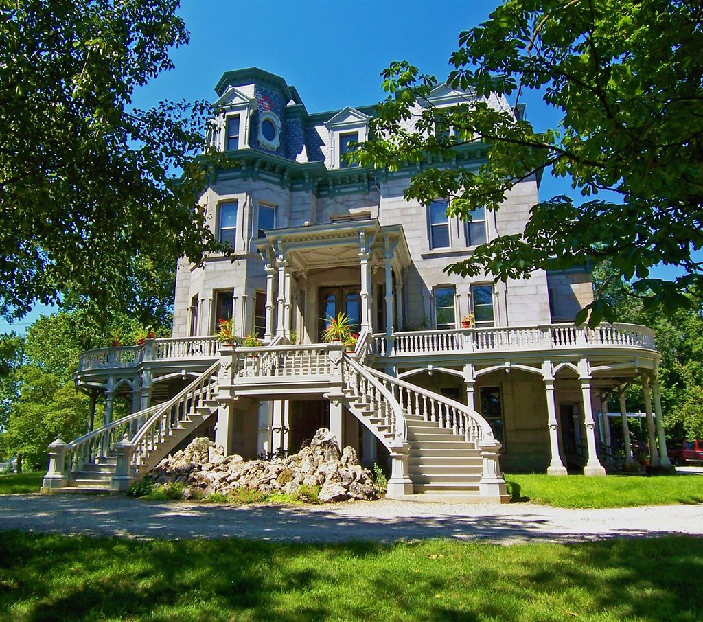 The Second Empire style Hegeler Carus Mansion on Seventh Street in LaSalle, Illinois. Image credit Terence Faircloth, flickr