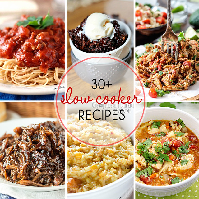 30+ Slow Cooker Recipes - breakfast, dinner, and dessert ideas!
