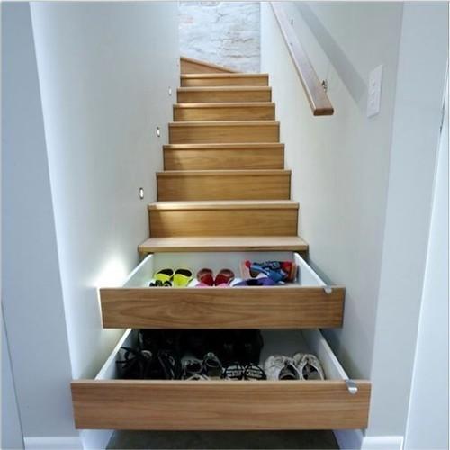 escalier à chaussures