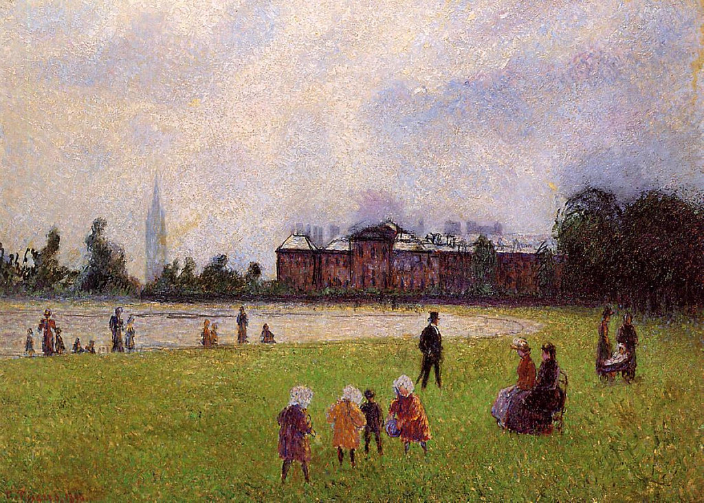 Kensington Gardens, London by Camille Pissarro, 1890