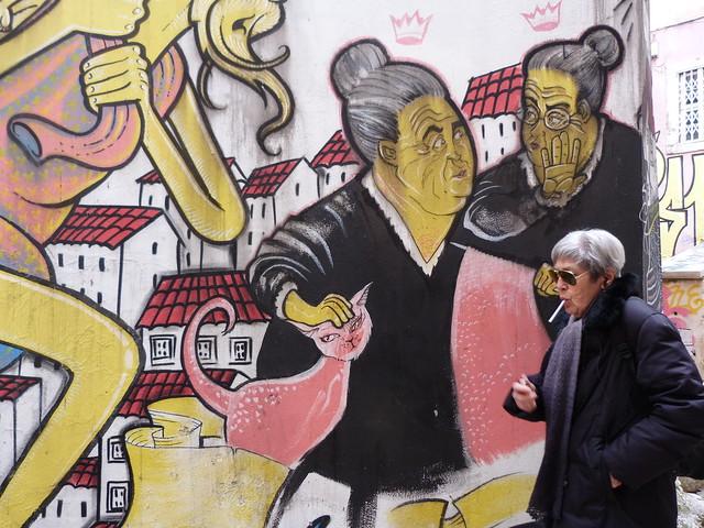 Graffiti de las encadinhas de Sao Cristovao (Mouraria, Lisboa)