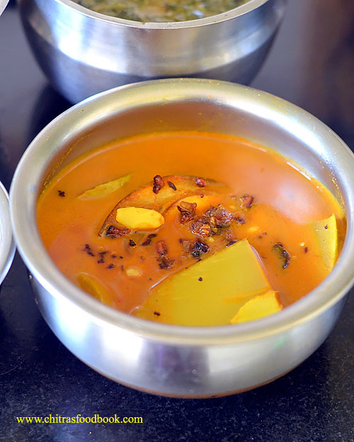 Raw mango vatha kuzhambu