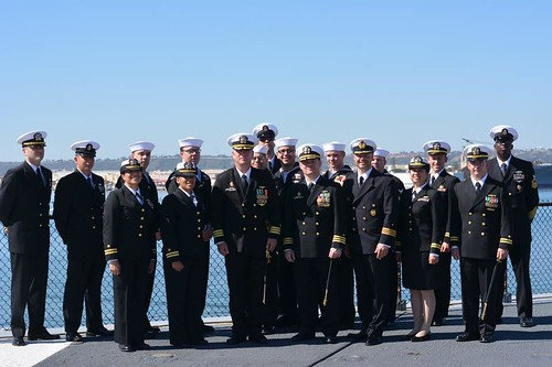 SAN DIEGO - COMCMDIV 31 aboard USS MIDWAY Museum following their Change of Command Ceremony.