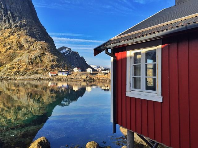 Detalle de Reine en las Islas Lofoten (Laponia Noruega)