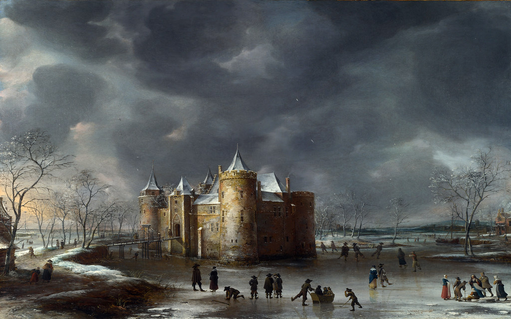 The Castle of Muiden in Winter by Jan Abrahamsz Beerstraten, 1658