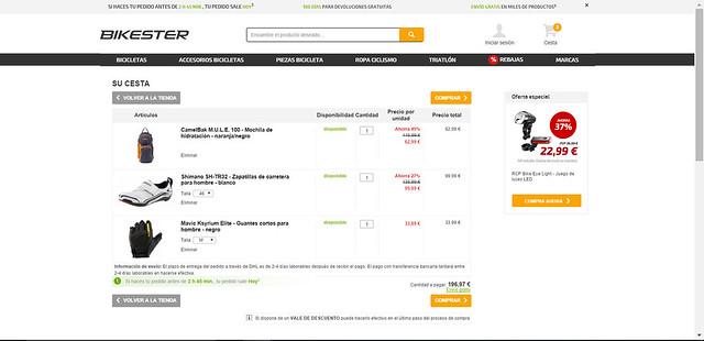 análisis tienda ciclismo online