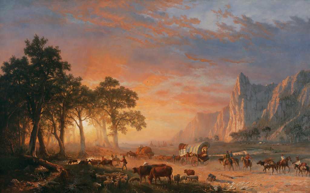 Emigrants Crossing the Plains by Albert Bierstadt, 1869