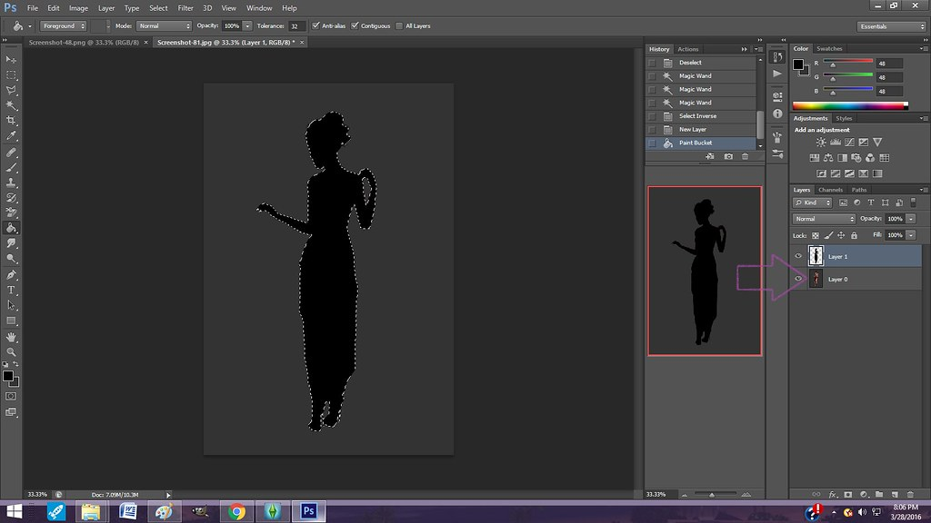 Adding a Shadow behind a Sim with Photoshop 25503270483_34f39af6f5_b
