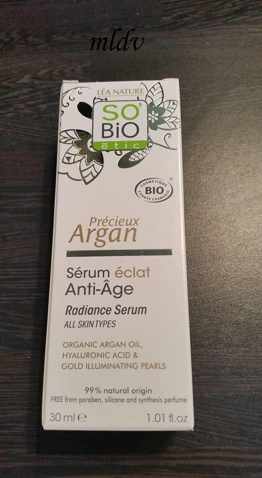Le sérum éclat Précieux argan de So'Bio Etic