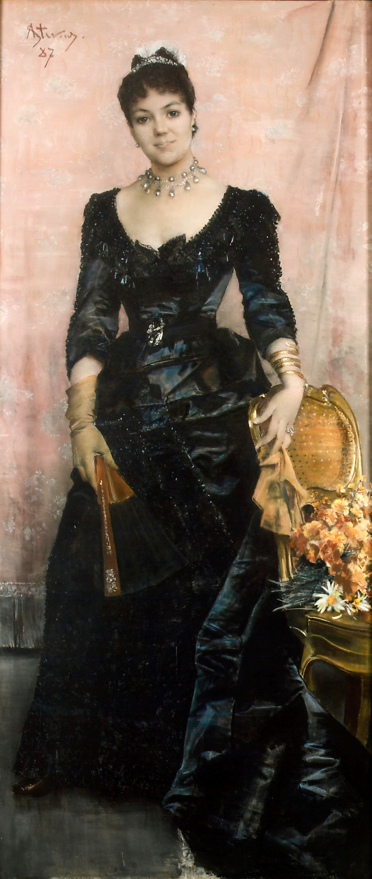 Portrait of Baroness du Mesnil Saint-Front by Alfred Stevens, 1886